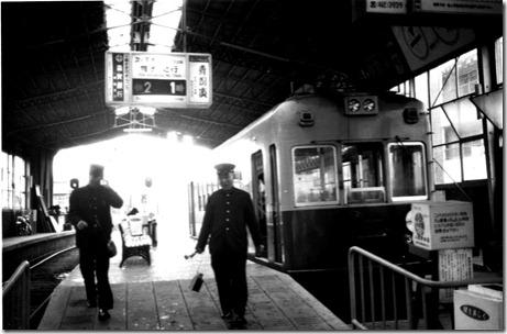 京福電気鉄道・嵐山線、北野白梅町駅とモボ300型